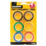 PVC Insulation Tape 18mm x 8m - 6 Pack Multi Colour